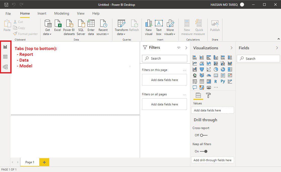 Power BI Desktop UI overview Step 2